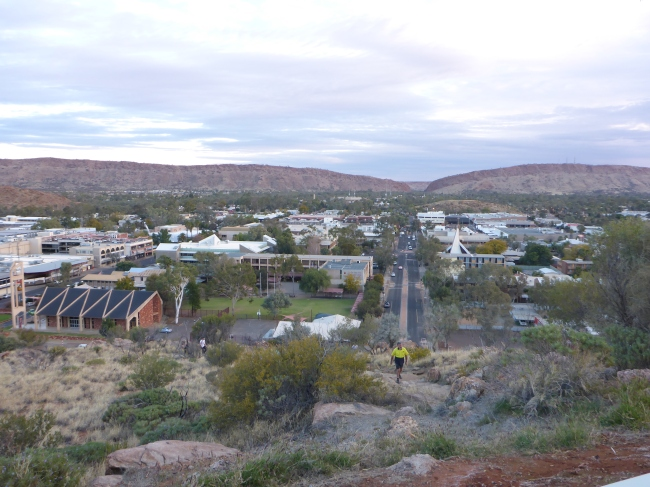 A view of Alice from the top of ANZAC Hill.