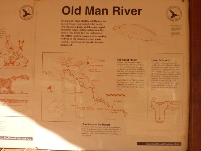 The Finke River system.