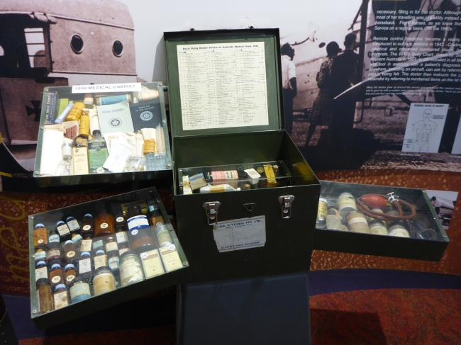 Very comprehensive medical kit, and instructions, issued to cattle stations and small settlements.
