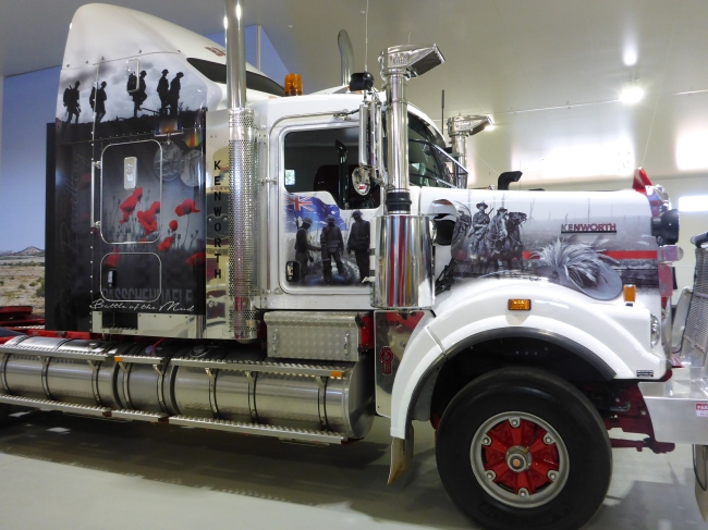 A modern Kenworth with patriotic ANZAC theme.
