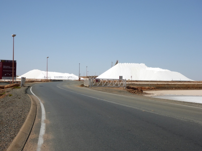 Salt storage on the way out of Port Hedland.