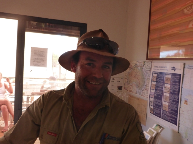 Head Ranger Dan, who now looks after Doris.