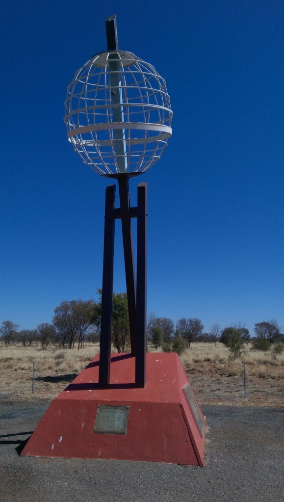 Crossing the Tropic of Capricorn. Heading south to Alice Springs.