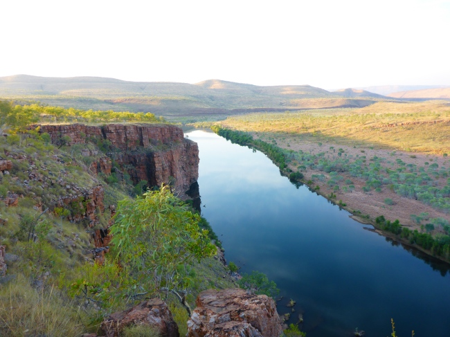 Looking down the Pentecost River as the sun sets.