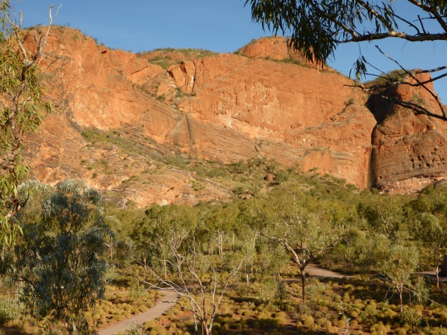 Sandstone escarpment.