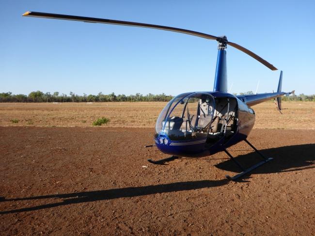 Robinson Raven R44. Help, no doors!