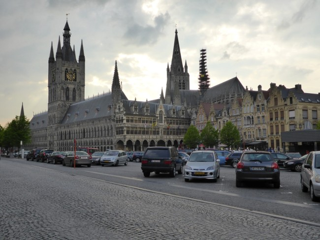 View of the rebuilt square at Ypres.