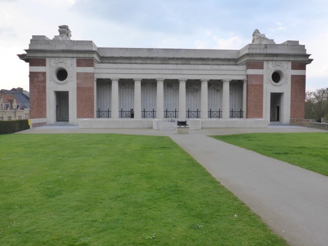 Rear view of the Menin Gate.