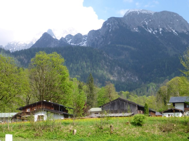 This is the view from my tent at Berchtesgarten.