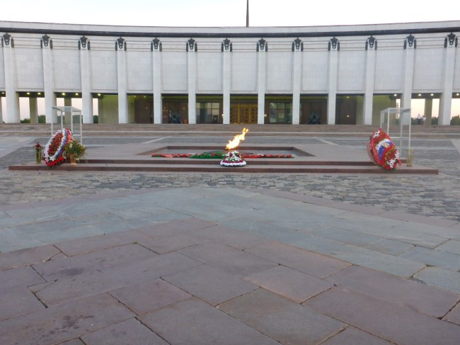 The Eternal Flame in front of the memorial Museum.