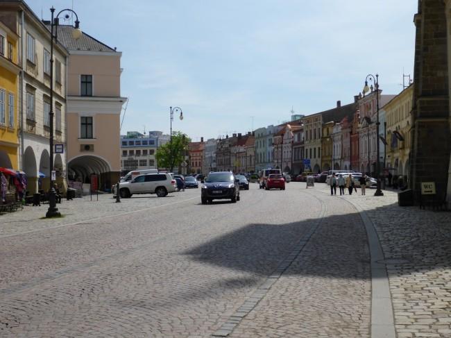 The wide, quiet main street in Litmosyl.