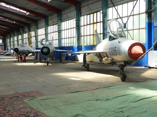 Three sleek MiG21's, pride of the Soviet air fleet.