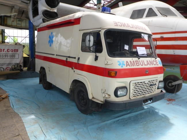 A nicely restored ambulance.
