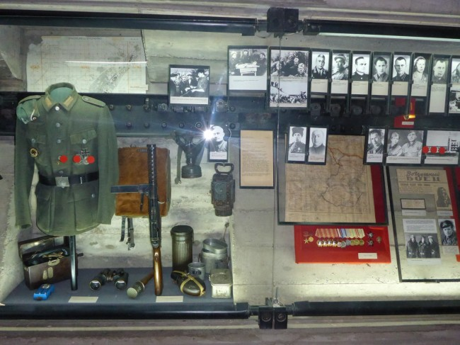 One of the memorabilia displays.