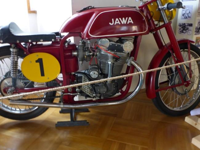 A road racing Jawa.