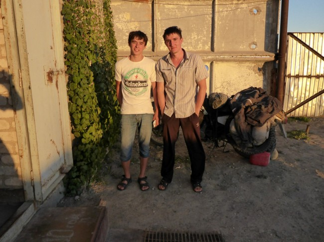 My Chechen hosts, Zaur and Maganed.