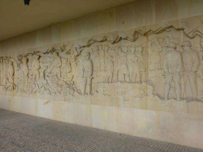 Part of the tableau that forms the memorial wall.
