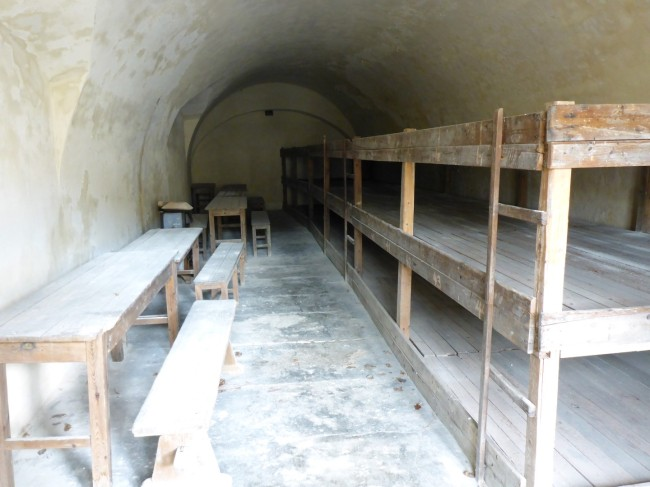 One of the rooms at the fortress which would have housed dozens of captives.