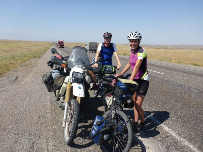 Dutch cyclists, en route to Tajikistan.