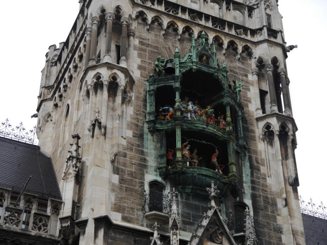 The famous Glockenspiel. Most of the bells are out of tune.