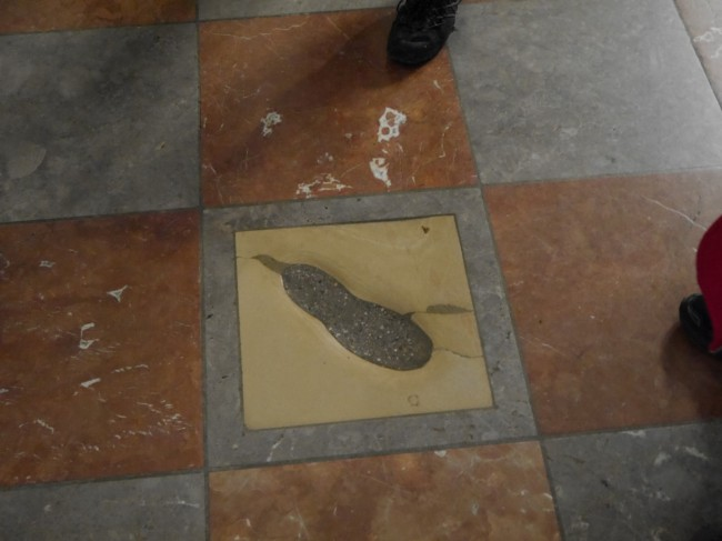 The Devil's footprint? Just as likely to be that of the architect himself.