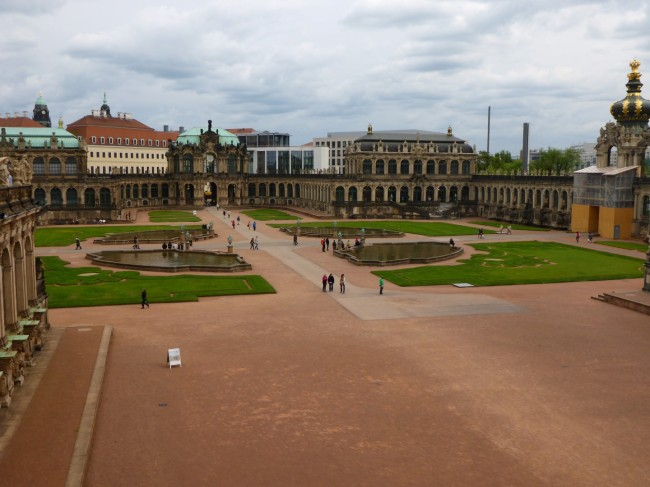 The gardens of the Zwinger.