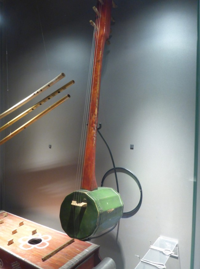 One of the instruments, definitely looking a bit folksy.