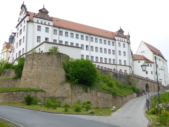 Colditz Castle, up on the hill.