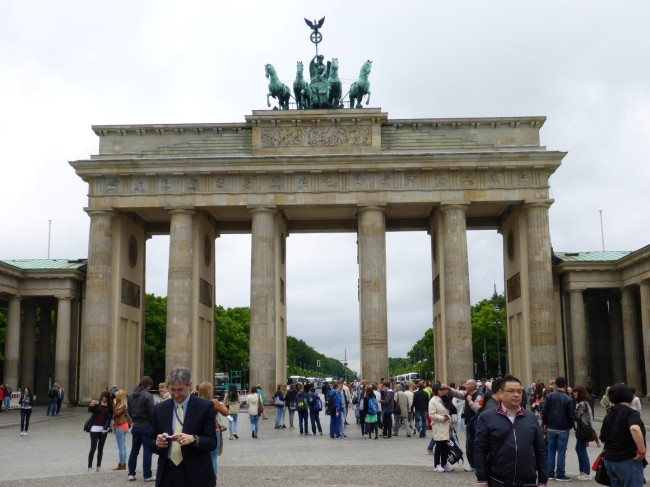 The very impressive Brandenberger Tor.