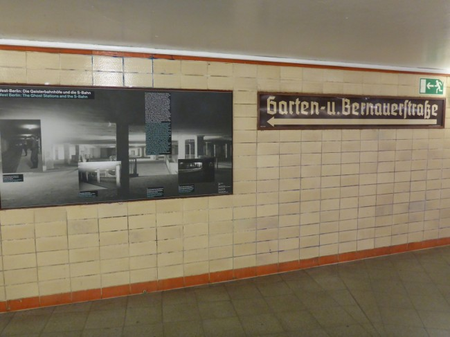 One of the display panels in Nordbahnhof Station.