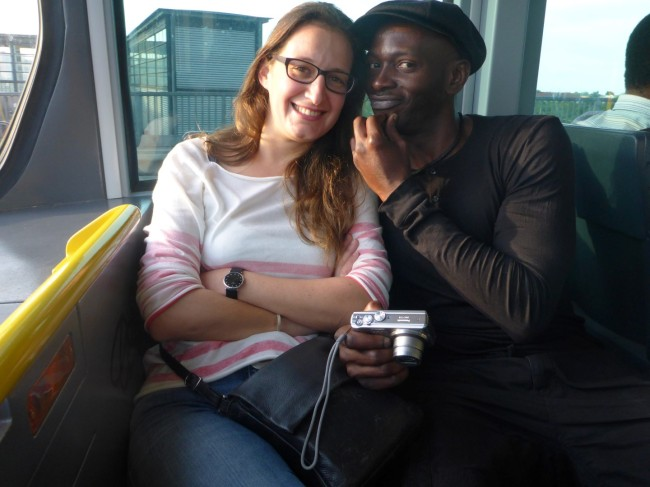 Segun and his lovely girlfriend Stefanie.