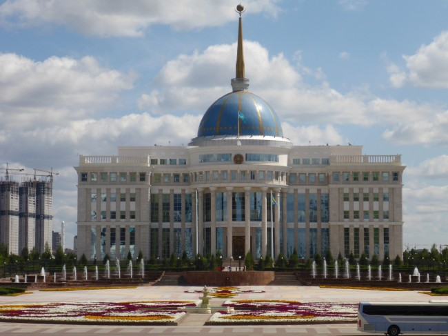 Presidential palce, home to.Nursultan Nazarbayev.
