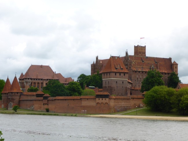 Malbork Castle from across the river.