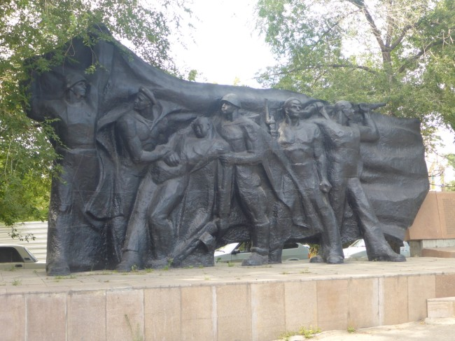 Typical Soviet style war memorial.