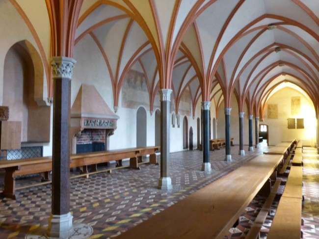 The huge and impressive Refectory where the Knights entertained visiting dignitaries.