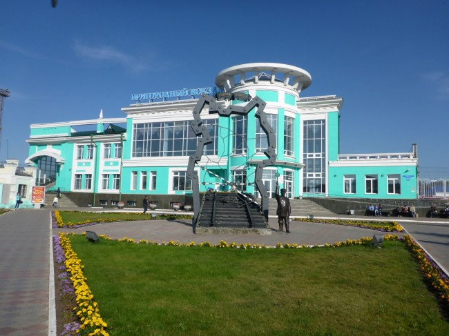 Typically splendid Russian station building.