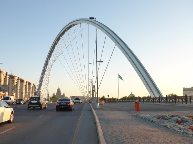 Fantastic road bridge in Astana.