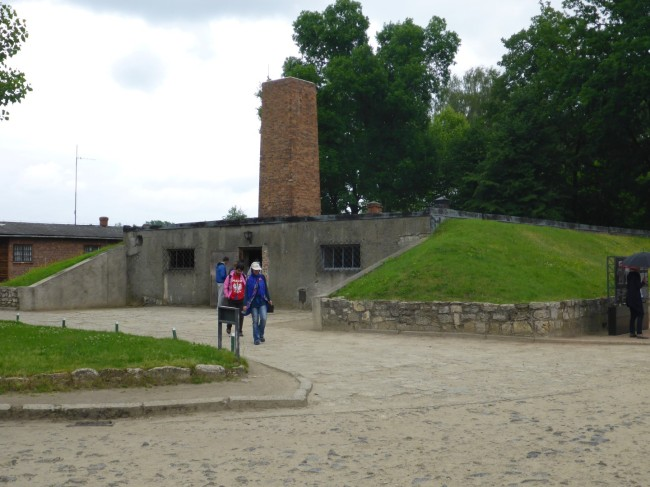 Gas chamber and crematorium from the outside.