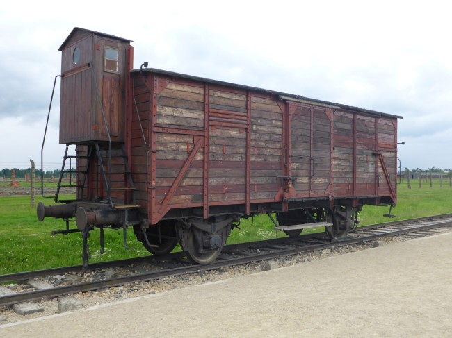 One of the wagons they were transported in, for thousands of miles, standing up and with very little water.