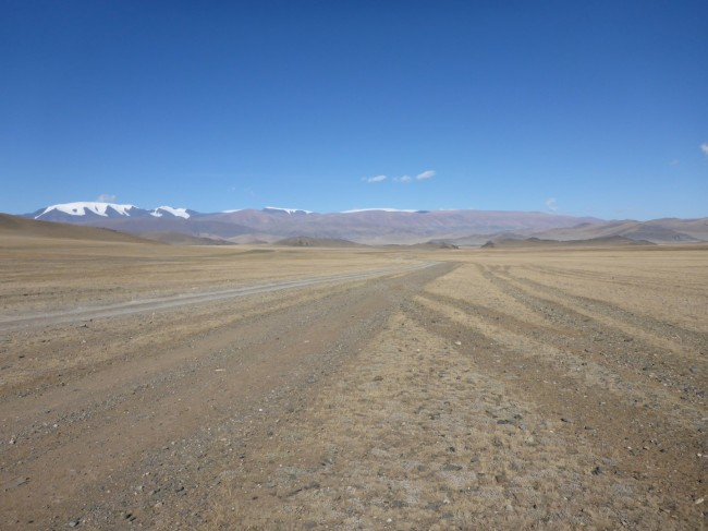 The endless steppe I'd come to Mongolia to enjoy.