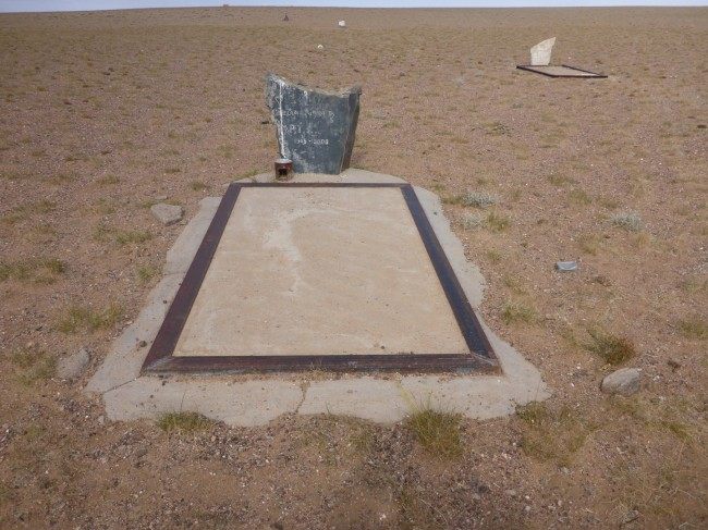 One of several graves out in the wilderness.