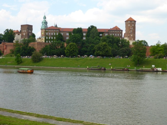 Wawel castle from across the River Vistula.