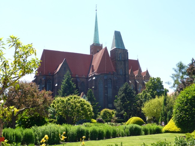 St John's Cathedral from the Botanical Gardens.