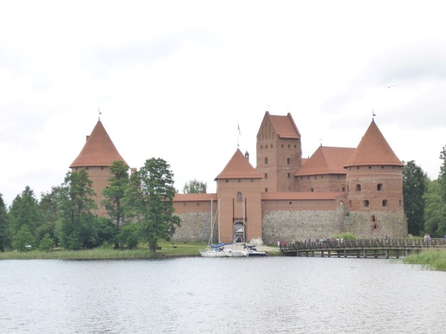 The castle at Traika Lakes.