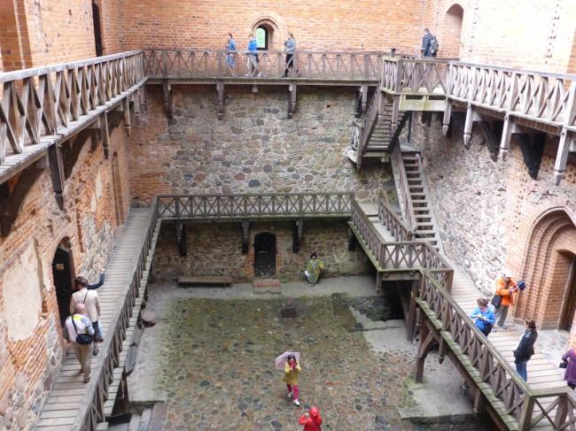 Compact courtyard.