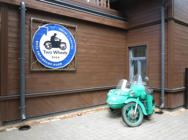 A motorcycle themed travellers' hostel.