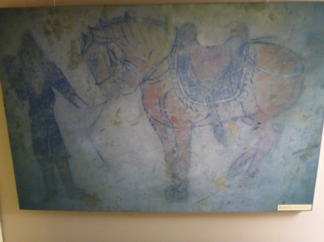 A copy of one of the ancient cave drawings.