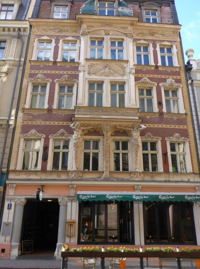 A nicely decorated house in Riga.