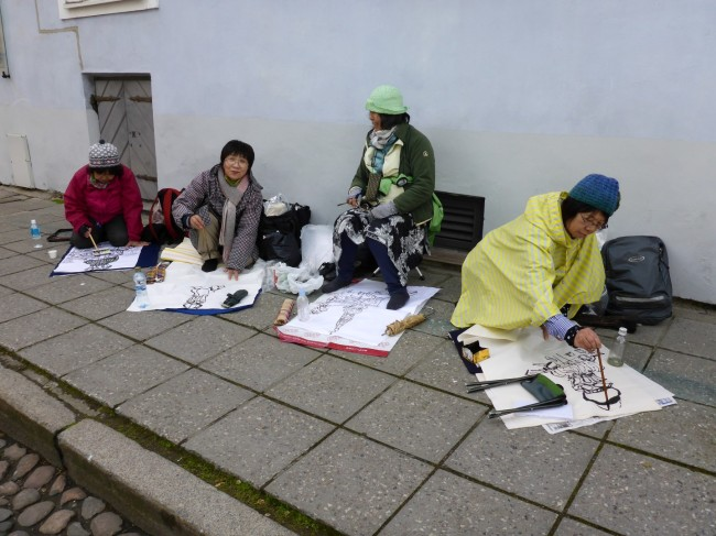 Some Japanese ladies drawing. What, no cameras?