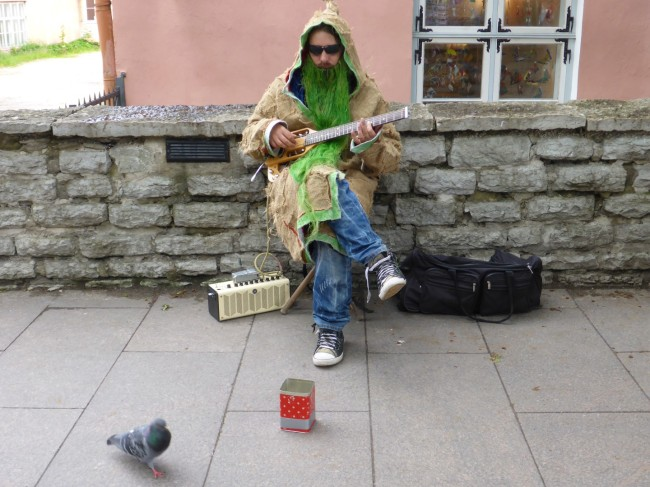 If you're going to busk, don't hide your light under a bushel.